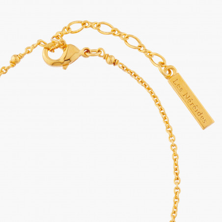Crab's pincers and pearl semi-rigid bracelet