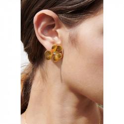 Boucles D'oreilles Tiges Boucles d'oreilles tiges asymétriques trèfle et cristal80,00€ ALFC102T/1Les Néréides