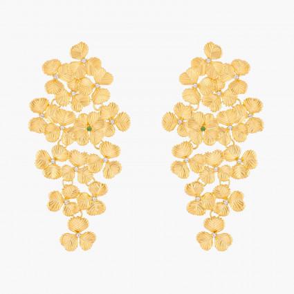 Boucles D'oreilles Pendantes Boucles d'oreilles tiges cascades de trèfles195,00€ ALFC104T/1Les Néréides