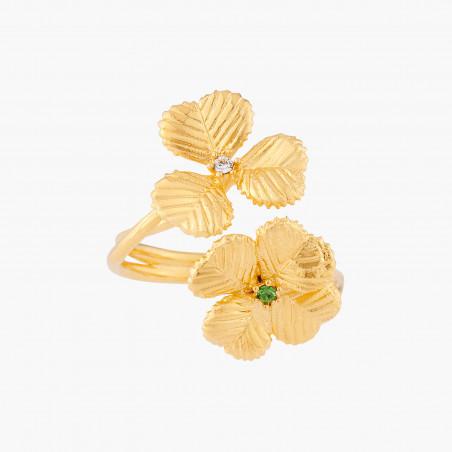 Bracelet jonc boutons de fleurs chimériques entrelacés