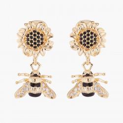 Boucles D'oreilles Clip Boucles d'oreilles clips tournesol et bourdon170,00€ ALNS103C/1Les Néréides
