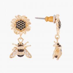 Boucles D'oreilles Pendantes Boucles d'oreilles tiges tournesol et bourdon170,00€ ALNS103T/1Les Néréides
