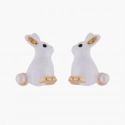 Boucles D'oreilles Tiges Boucles d'oreilles tiges lapin et perle80,00€ ALRE101T/1Les Néréides
