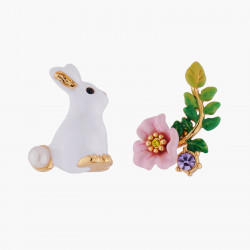 Rabbit And Pink Flower...