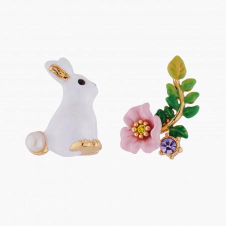 Collier petit lapin, champignons et pampilles