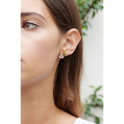 Boucles D'oreilles Tiges Boucles D'oreilles Asymétriques Tiges Lapin Et Fleur Rose90,00€ ALRE102T/1Les Néréides