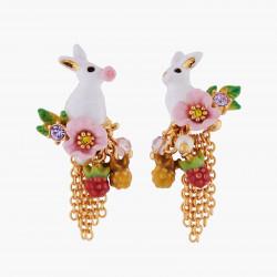 Boucles D'oreilles Pendantes Boucles D'oreilles Asymétriques Tiges Lapin Et Chaînettes120,00€ ALRE103T/1Les Néréides