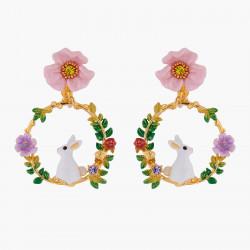 Boucles D'oreilles Clip Créoles clips lapin sur branche fleurie140,00€ ALRE104C/1Les Néréides