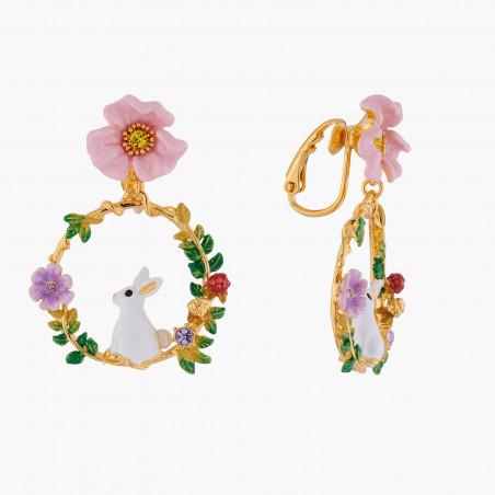Sautoir pierres rondes et chaîne rose opale