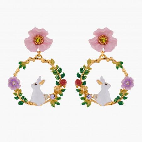 Boucles d'oreilles La Diamantine pierre carrée