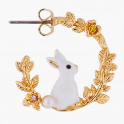Boucles D'oreilles Creoles Créoles tiges lapin sur branche dorée110,00€ ALRE105T/1Les Néréides