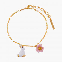Rabbit and Pink Flower Thin...