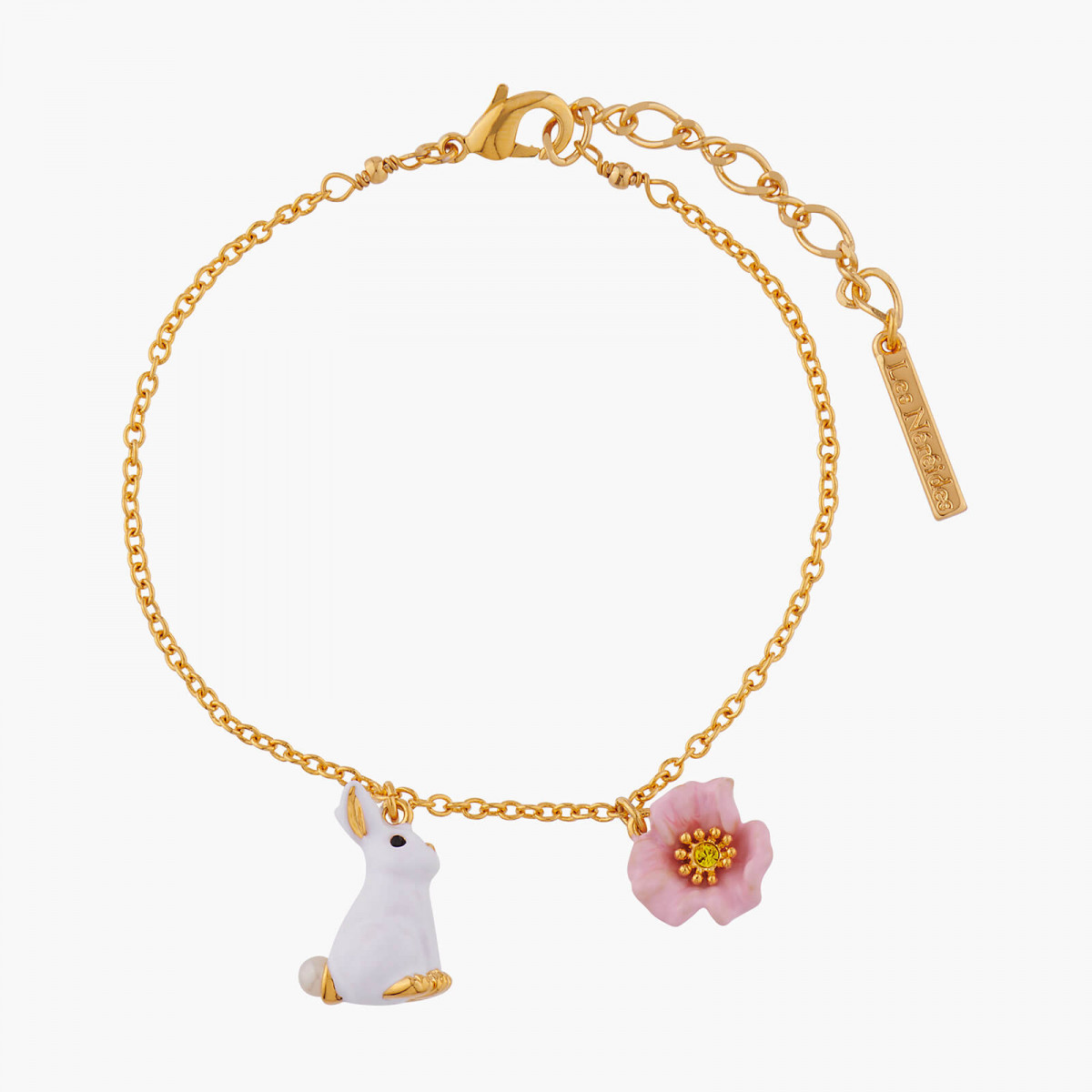 Butterfly on a flowered branch necklace