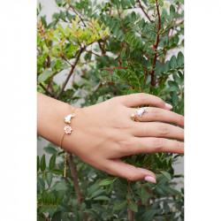 Bracelets Fins Bracelet fin à chaîne lapin et fleur rose80,00€ ALRE201/1Les Néréides