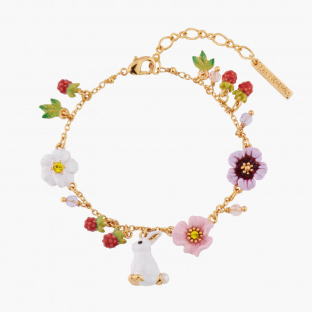 Cat on flowered and fruity branch hoops