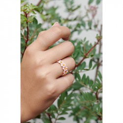 Bagues Fines Bague fine fleurs roses et pistils dorés90,00€ ALRE601/1Les Néréides