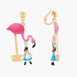 Boucles D'oreilles Originales Boucles D'oreilles Clip Teatime Alice Et Flamant Rose70,00€ AMAL106C/1N2 by Les Néréides