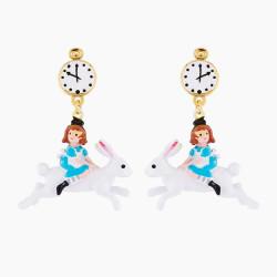 Boucles D'oreilles Originales Boucles d'oreilles tiges alice à dos de lapin blanc75,00€ AMAL110T/1N2 by Les Néréides