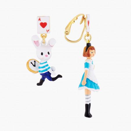 Boucles d'oreilles clip nœoeud et ballerine au tutu pavé de strass orange mat