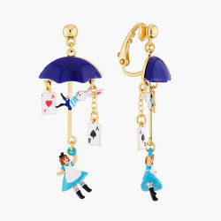 Boucles D'oreilles Originales Boucles D'oreilles Clip Alice Vole En Parapluie80,00€ AMAL112C/1N2 by Les Néréides