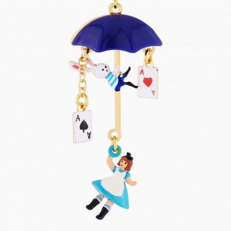 Silvered toe-dancing ballerina earrings
