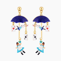 Boucles D'oreilles Originales Boucles d'oreilles tiges alice vole en parapluie80,00€ AMAL112T/1N2 by Les Néréides