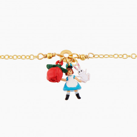 Bracelet ballerine rose scintillant et pampilles