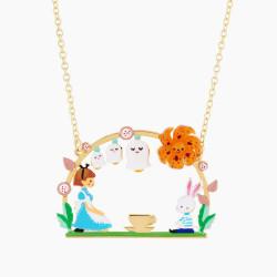 Colliers Originaux Collier pendentif teatime alice et lapin blanc75,00€ AMAL303/1N2 by Les Néréides