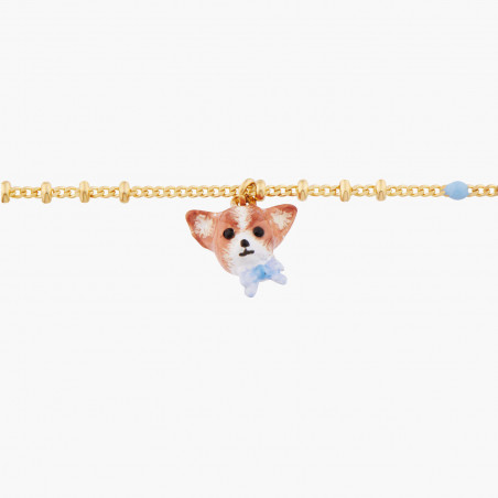 Collier duo de chats blancs sur pierre