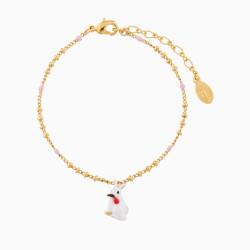 Bracelets Fins Bracelet pendentif lapin blanc55,00€ AMSO212/1Les Néréides
