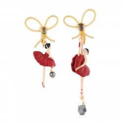 Boucles D'oreilles Clip Boucles D'oreilles Clips Asymétriques Ballerine Rouge Et Noeud90,00€ RDD108C/3Les Néréides