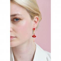 Boucles D'oreilles Pendantes Boucles d'oreilles tiges ballerine rouge et pierre95,00€ RDD115T/3Les Néréides