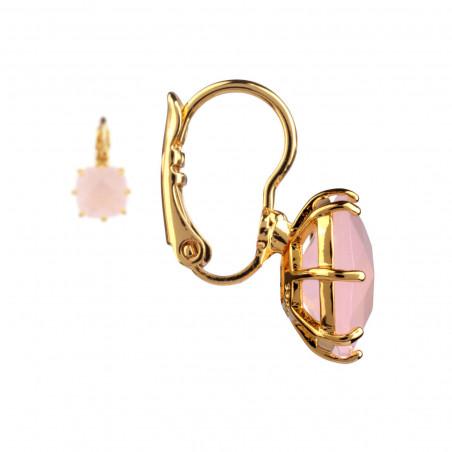 Stone and crown semi-rigid lucky bracelet