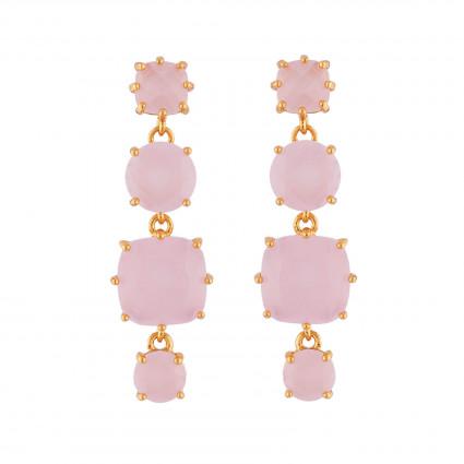 Boucles D'oreilles Pendantes Boucles D'oreilles Tiges 4 Pierres La Diamantine Rose80,00€ ULD120T/2Les Néréides