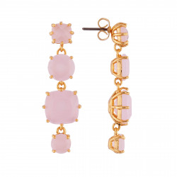 Stone and heart semi-rigid lucky bracelet