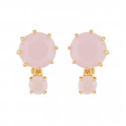 Pink 2 Round Stones La...