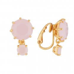 Stone and clover semi-rigid lucky bracelet