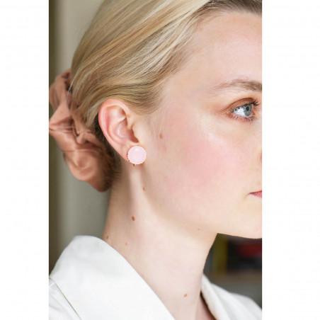 Boucles d'oreilles verre taillé, serpent et fleurs