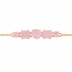 Bracelet double chaînes cactus doré