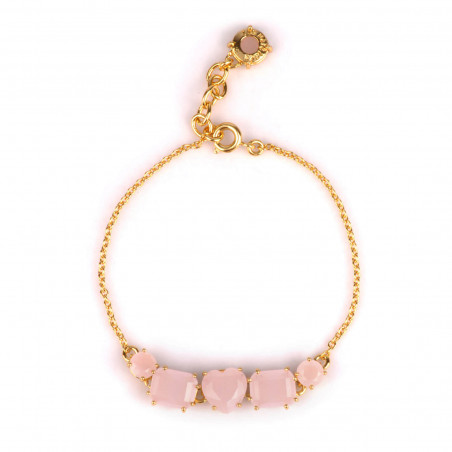 Golden cactus double chains bracelet