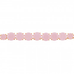 Pink and blue branches, facated glass and rhinestone semi-rigid bracelet