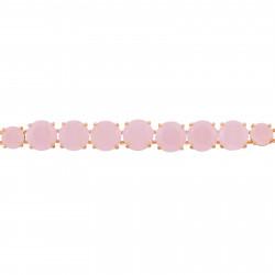 Bracelet jonc branches roses et bleues, verre taillé et strass