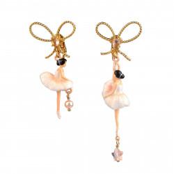 Boucles D'oreilles Clip Boucles D'oreille Danseuses Étoiles Asymétriques Blanc90,00€ WDD108C/2Les Néréides