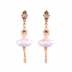 White Clip On Earrings With...