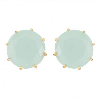 Boucles D'oreilles Tiges Boucles D'oreilles Tiges Pierre Ronde La Diamantine Vert D'eau60,00€ XLD140T/1Les Néréides