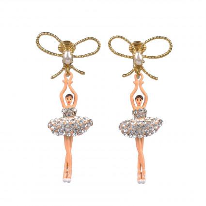 Boucles D'oreilles Clip Boucles D'oreille À Clip Danseuses Étoiles Cristal110,00€ ZDDL108C/3Les Néréides
