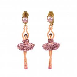 Boucles D'oreilles Clip Boucles D'oreille À Clip Ballerines Sur Pointe Cristal Rose110,00€ ZDDL115C/1Les Néréides