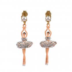 Boucles D'oreilles Clip Boucles d'oreilles clips ballerines sur pointe cristal110,00€ ZDDL115C/3Les Néréides