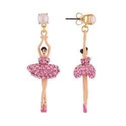 Boucles D'oreilles Pendantes Boucles D'oreille Ballerines Sur Pointe Cristal Rose110,00€ ZDDL115T/1Les Néréides