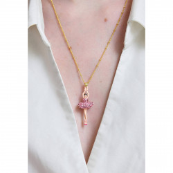 Colliers Pendentifs Collier Pendentif Ballerine Sur Pointe Cristal Rose Luxe90,00€ ZDDL359/1Les Néréides